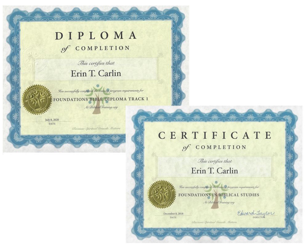Sample certificate free online bible classes for Bible study certificate templates
